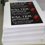Maxicards für Gutscheine, Einladungen, Hochzeitskarten u.v.m. von Druckerei Wagner